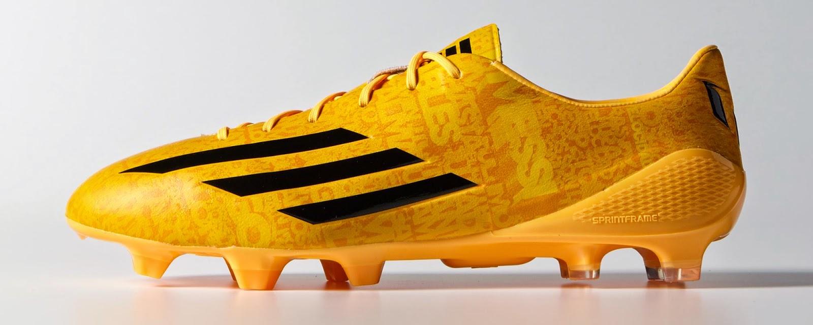 Adidas F50 adiZero 4 Messi Edition - solar gold-black-black - 1.jpg